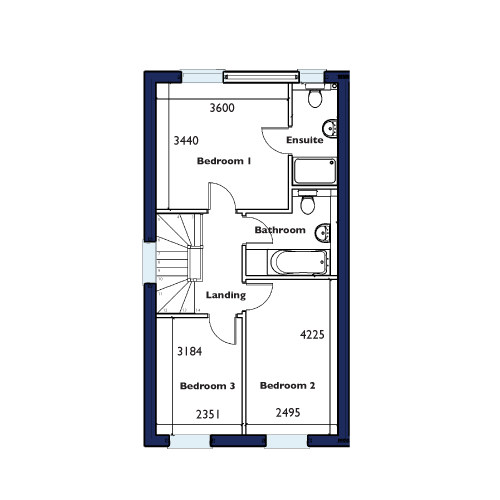 Plot Seven, Eight and Nine First Floor Floorplan