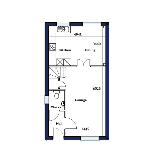 Plot Seven, Eight and Nine Ground Floor Floorplan