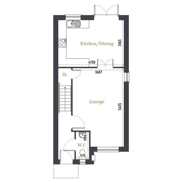 Plot Four Ground Floor Floorplan