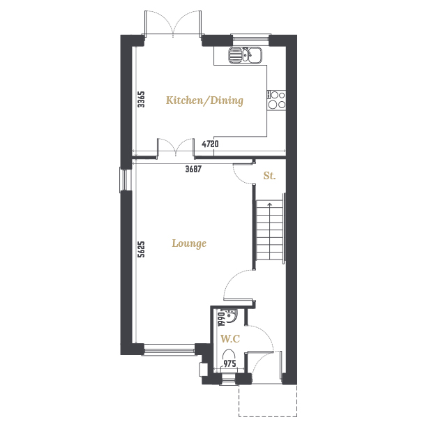 Plot Five and Seven Ground Floor Floorplan