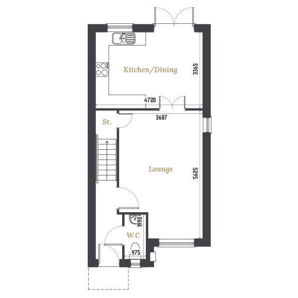 Plot Six and Eight Ground Floor Floorplan