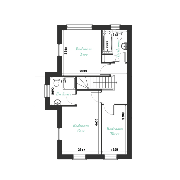 Plot one first floor floorplan