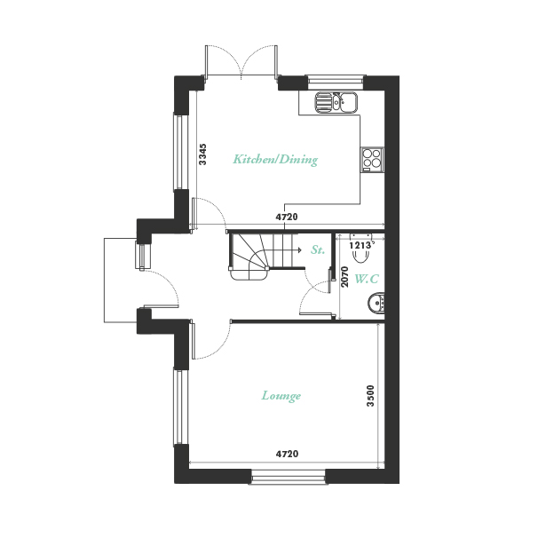 Plot one ground floor floorplan