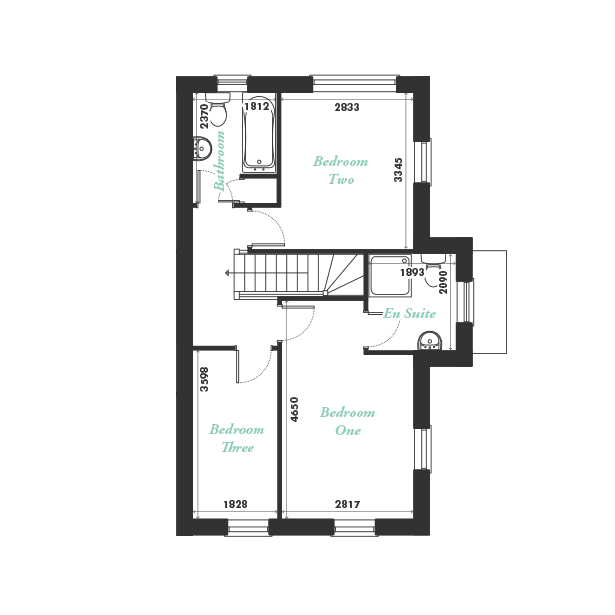 Plot eleven first floor floorplan