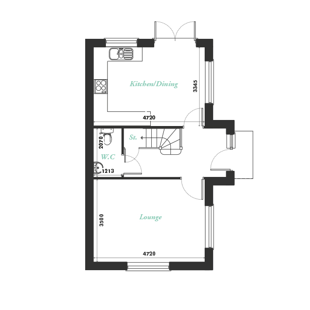 Plot eleven ground floor floorplan