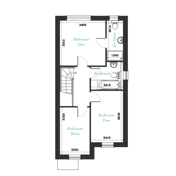 Plot two first floor floorplan