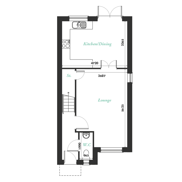 Plot two ground floor floorplan