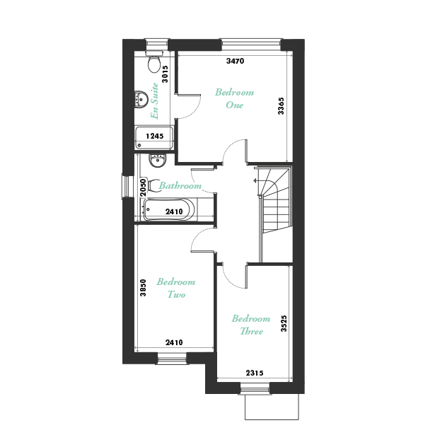 Plot three first floor floorplan