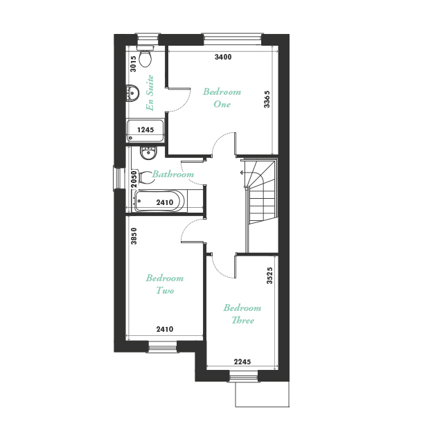Plot four, six and eight first floor floorplan