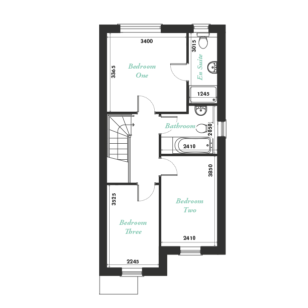 Plot five, seven and nine first floor floorplan