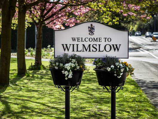 Image of Wilmslow town sign